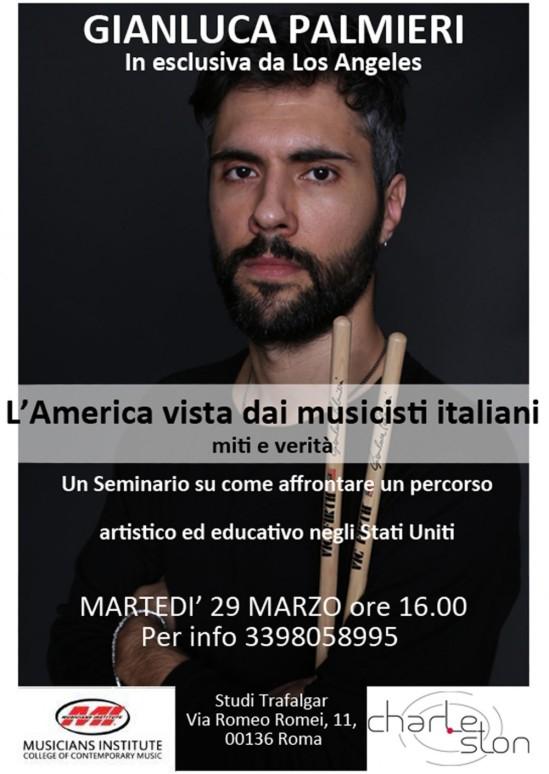 Locandina evento Gianluca Palmieri Charleston Musica